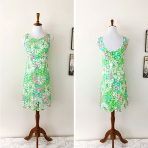LILLY PULITZER Crochet Lace Printed Shift Dress 2